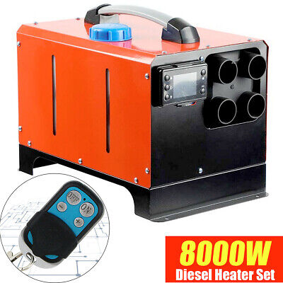12V 8KW Diesel Air Heater Fuel Tank Silencer LCD Controller for Boats Car Trucks