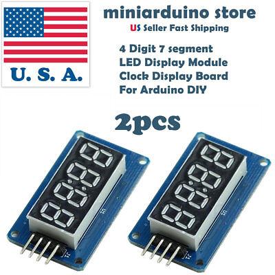 2pcs 4 Bits Tm1637 Digital Tube Led Clock Display Module Arduino Due Uno 2560