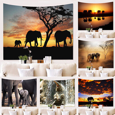 Elephant Tapestry animal wall hanging Tapestries Home Decorative Beach Mat