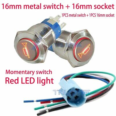 Waterproof Red Led Light Switch Connector Easy Installation With Horn Design