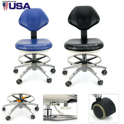 Dental Dentist Stool Height Adjustable Mobile Hydraulic Rolling Chair Pu