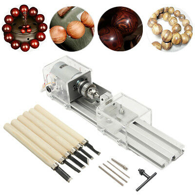 100w 24v Mini Lathe Beads Polisher Machine Woodworking Craft Diy Rotary Tool Set