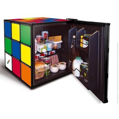 Rubik's Cube Mini Drinks Fridge Retro Home Worktop Office Bedroom 43L Food Box