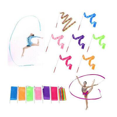 4M Dance Ribbon Gym Rhythmic Art Gymnastic Ballet Streamer Twirling Rod - Dance Ribbon