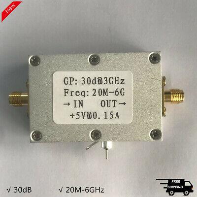 20m-6ghz Rf Low Noise Amplifier Broadband Lna Amplifier High Gain 30db 5v
