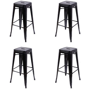 set of 4 metal bar stools 30