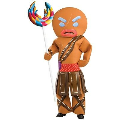 Gingerbread Man Warrior Costume Adult Gingy Shrek Halloween Fancy - Gingy Halloween
