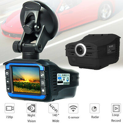 2in1 HD Car Hidden DVR Camera Recorder Radar Laser Speed Detector Dash Cam Gifts