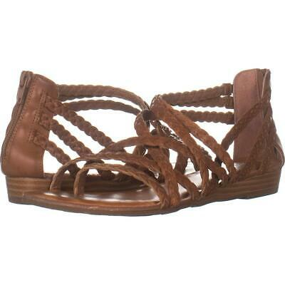 Carlos By Carlos Santana Amara 2 Braided Strap Sandals 959, Tawny Tan, 8 US / 38