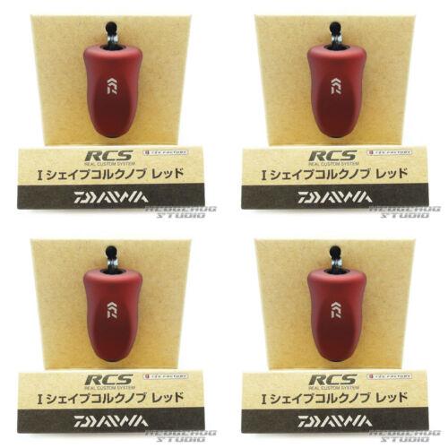 DAIWA Genuine SLP WORKS RCS I Shape Cork Knob BLACK x 4pcs