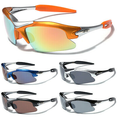Half Frame Men Sports Sunglasses Cycling Baseball Running Wrap Around Glasses ()