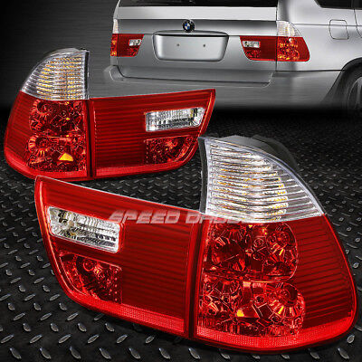 - FOR 2000-2006 BMW X5 E53 CHROME HOUSING RED LENS REAR TAIL LIGHT BRAKE LAMP PAIR
