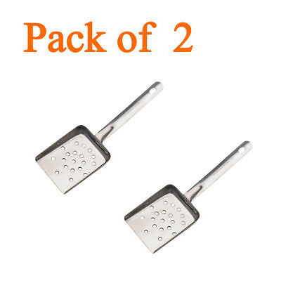 Pack of 2 Stainless Steel Chip Scoop, Chip Shovel, Chip Bagger