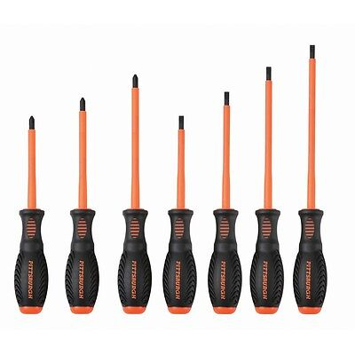 7 Pc  Insulated Electricians High Visibility Screwdriver Set Electrical Power