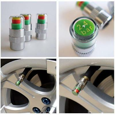 4PCS Car Auto Bike Tire Pressure Monitor Valve Stem Cap Sensor Alert