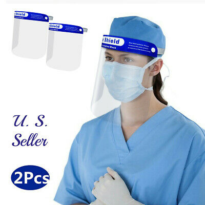 2Pcs HD Full Face Protective  Shield Anti Fog Full Face Splash Proof Top Cap Hat