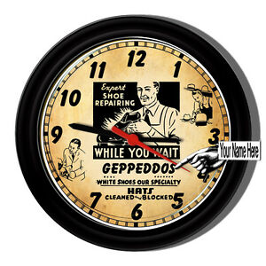 Shoe-Store-Repair-Salesman-Personalized-Sign-Wall-Clock