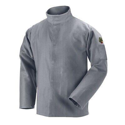 Black Stallion Nfpa 9oz Gray Fr Cotton Welding Jacket Medium Jf2220-gy
