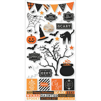 Happy Haunting 6 x 12 Sticker Sheet Simple Stories - Happy Halloween Stories