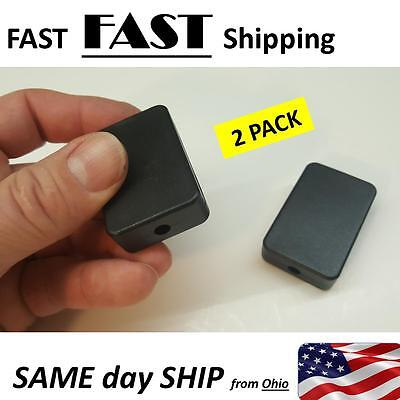 2 Pack --- Small Black Plastic Electric Project Box
