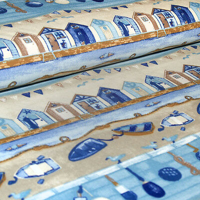 Patchwork Strand Boote Strandhäuschen 21 cm hoch 158 breit