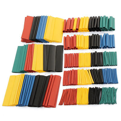 328pcs Cable Heat Shrink Tubing Sleeve Wire Wrap Tube 21 Assortment Kit Set New