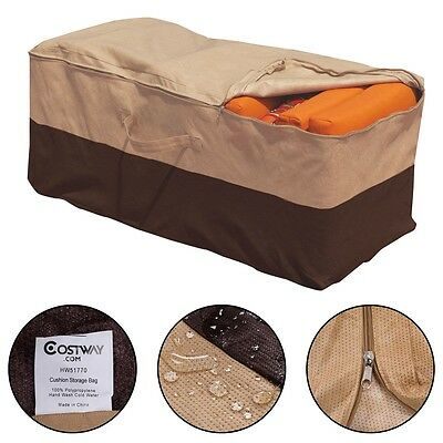 Home Outdoor Storage Bag Patio Furniture Chaise Chair Pad Cushion Protector 1PC