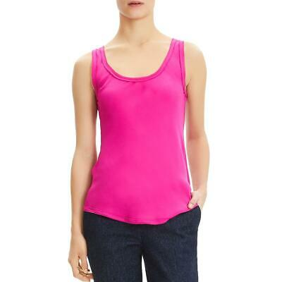 Theory Womens Pink Silk Raw Hem Sleeveless Tank Top Blouse S BHFO 6771
