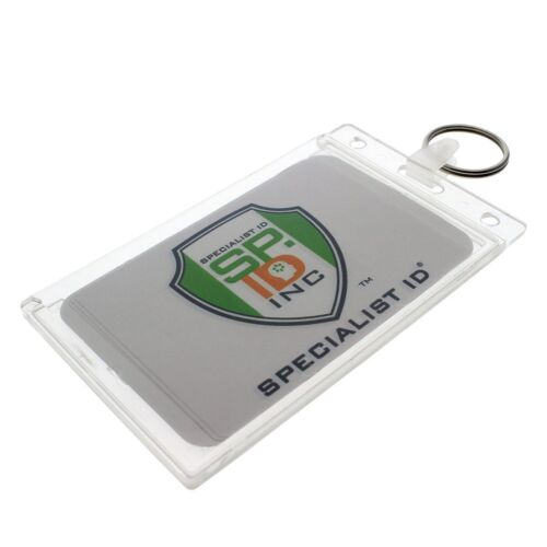 Fuel Card Holder Key Chain / Gas Card Key Ring - ID Keychain