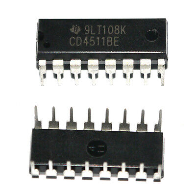 10x Hcf4511be Dip-16 Hef4511 Cd4511 Bcd To 7-segment Latchdecoderdriver New