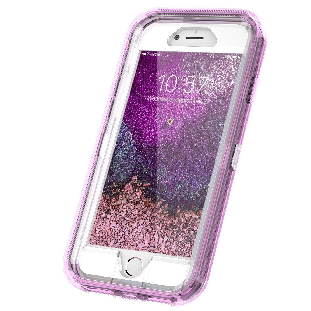 Clear Defender Transparent Case Cover iPhone 6 6S 7 8 X Plus Clip fits Otterbox