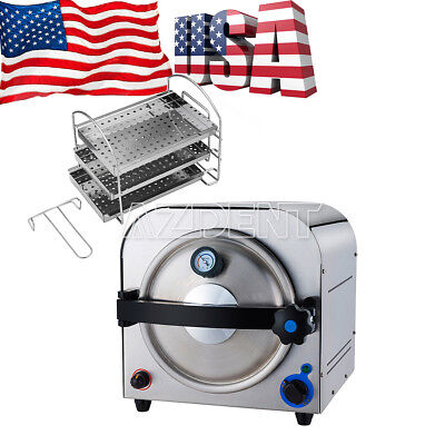 14l Dental Autoclave Steam Sterilizer Medical Sterilizition Distilled Water New