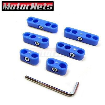 7-8mm Spark Plug Wire Separators Dividers Looms Fits Chevy Ford /&par Silver aS
