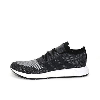Mens Adidas Swift Run Primeknit Black Trainers (TGF32) RRP £89.99 BIG SIZES!!