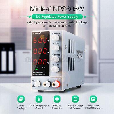 Us Minleaf Nps605w Dc Power Supply 300w 0-60v 0-5a Switch Adjustable Digital