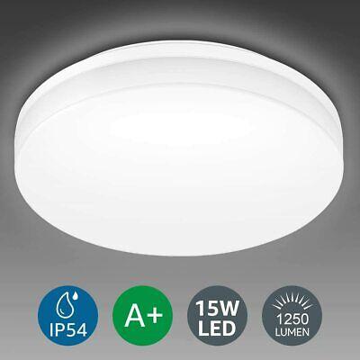 Lighting EVER 15W Deckenlampe, IP54 Wasserfest Badlampe, 3000K LED Deckenleuchte
