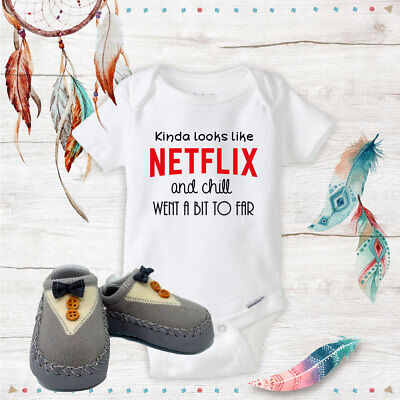 Netflix and Chill Onesie Grey shoes Baby Shower Best Baby Gift Idea - Best Baby Shower Ideas