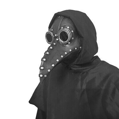 Plague Doctor Bird Mask Long Nose Beak Punk Steampunk Cosplay Halloween Costume