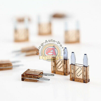 10 Mini Assorted Car Blade Fuse Auto Car Trucks Fuses Replacement Brown 32V 7.5A