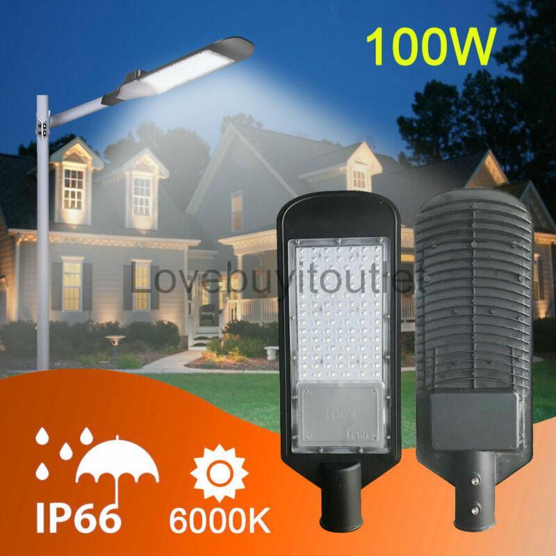 100W LED ShoeBox Parking Lot Street Light 11000 Lumens Commercial Road Lighting