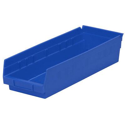 Akro-mils 30138blue Blue Shelf Bin 17-78d X 6-58wx 4h 12pk