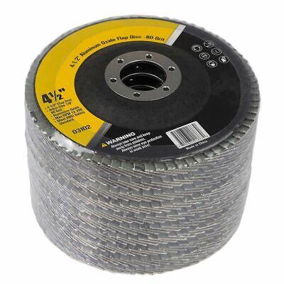 4-12 80 Grit Flat Aluminum Oxide Flap Disc 10 Pieces Grinding Sanding Set
