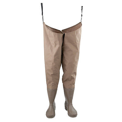 NEW IN BOX - Hodgman PVC/Nylon hip waders with cleated sole boots SIZE 8