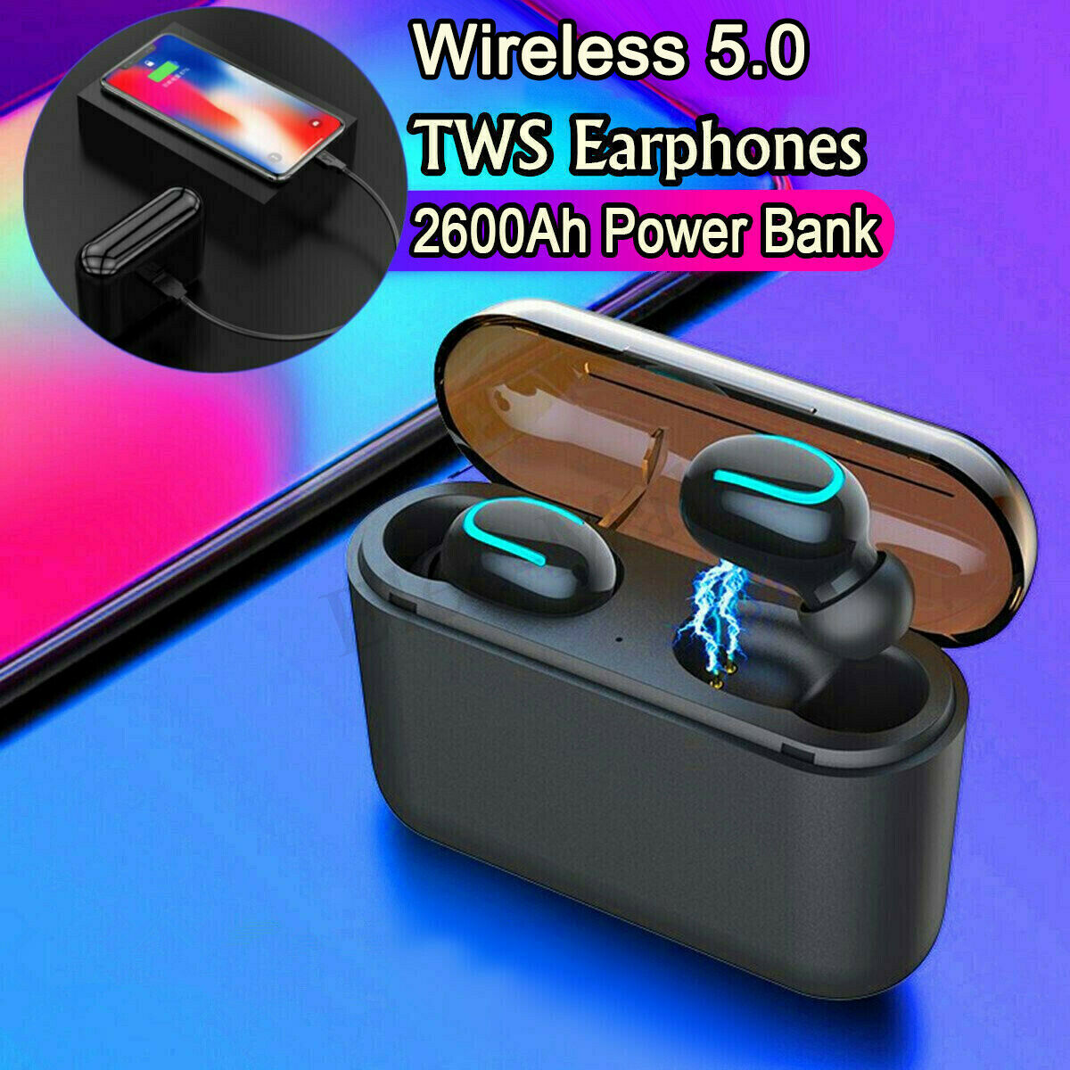 TWS True Wireless Earbuds Headphone Headset For Samsung Note