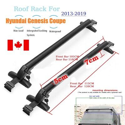 Car Top Roof Rack Cross Bar Door Frame for Hyundai Genesis Coupe 2008-2019