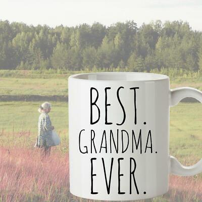 Best Grandma Ever Coffee Mug Gift for Grandma Christmas Present Minimalist  ()
