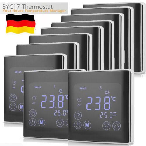 Digital Thermostat Programmierbar LCD Fußboden Heizung Raumtemperaturregler EU