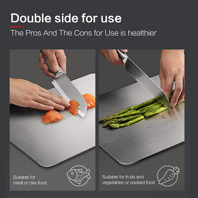 304 Food-grade Stainless Steel Cutting Board for Kitchen,Vegetables Breads Meats