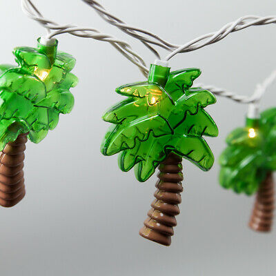Palm Tree Tropical String Lights Indoor-Outdoor Party Patio 9 ft, Connectable - Patio Lights String
