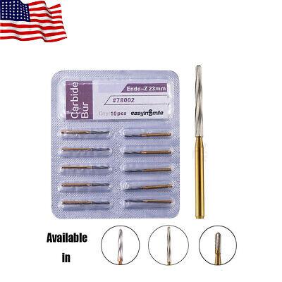 Dental Carbide Tungsten Drill Easyinsmile Zekrya Fg Bur 2328mm For Dental Lab